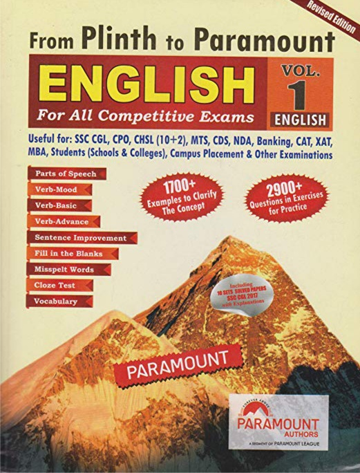 Plinth to paramount english book for ssc,cds,nda,ibps
