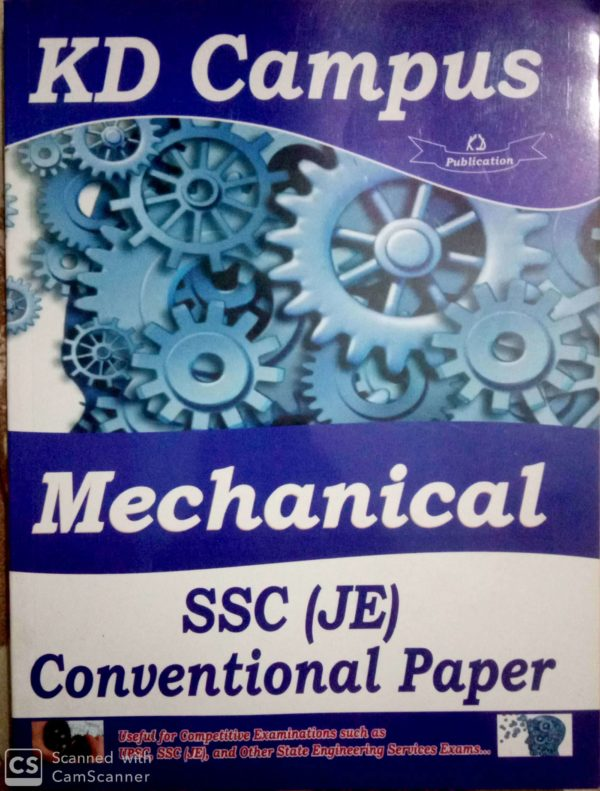 SSC JE CONVENTIONAL PAPER