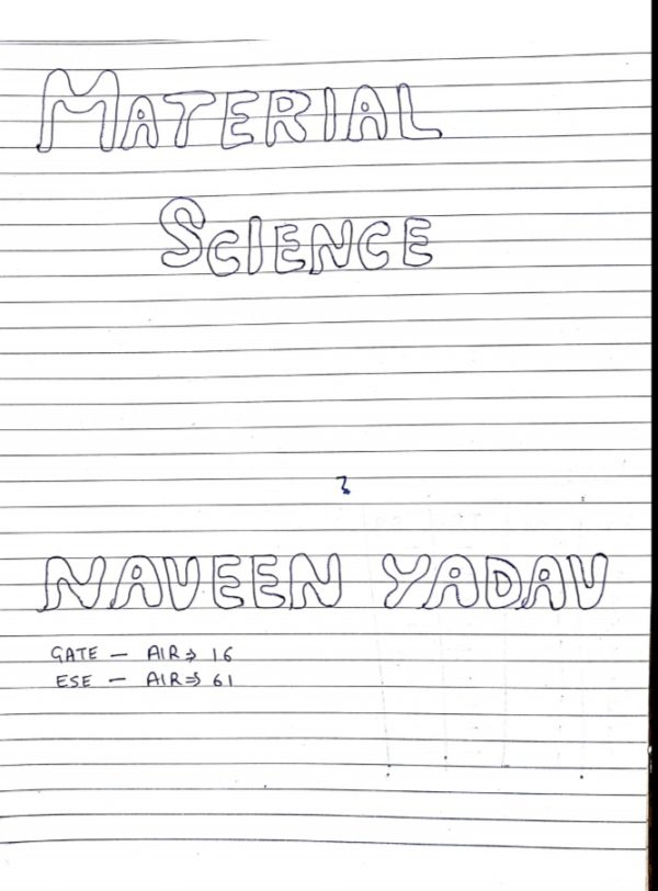 material science handwritten notes for gate exam