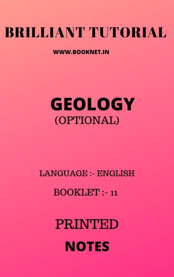 GEOLOGY OPTIONAL BY BRILLANT