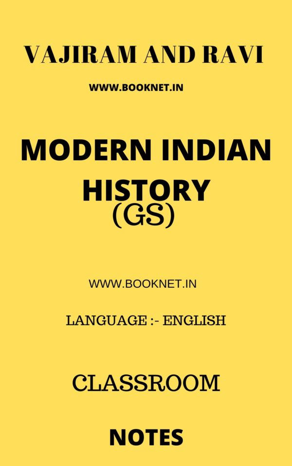 MODERN INDIAN HISTORY BY VAJIRAM AND RAVI