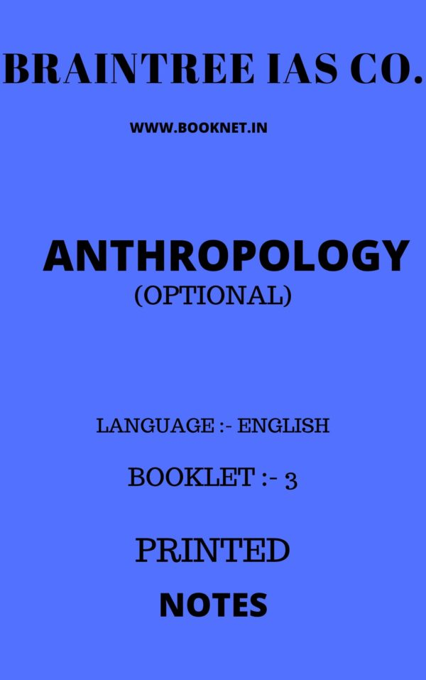anthropology optional notes by braintree
