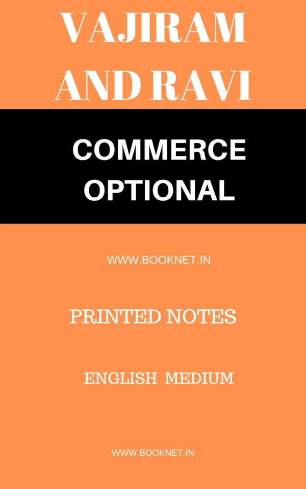 commerce optional printed notes by vajiram and ravi