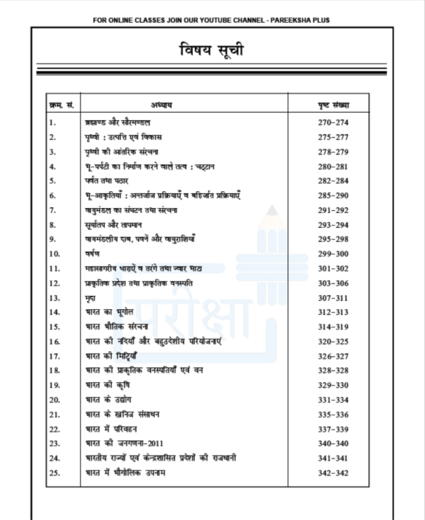geography notes in hindi for ias